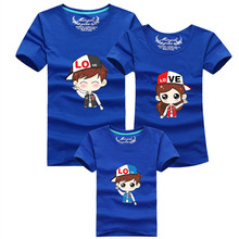 1psc New Family mother father baby T Shirts Summer Family Clothes Look Cartoon Printed Father & Mother & Daughter & Son Outfits