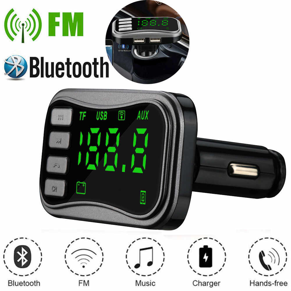 Car Kit Handsfree Wireless Bluetooth FM Transmitter LCD MP3 PlayerDual USB Charger Car Accessories Handsfree Auto FM Modulator