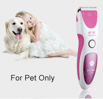 Professional Pet Electric Trimmer Twin Blade Grooming Haircut Shaver Machine Silver Rechargeable Dog Grooming Clipper professional pet electric push cats and dogs rechargeable dog shaver teddy electric fader dog shaving knife