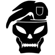13.2cm*16.4cm Call Of Duty Skull Fashion Vinyl Car-Styling Car Sticker Black/Silver S3-5367(China)