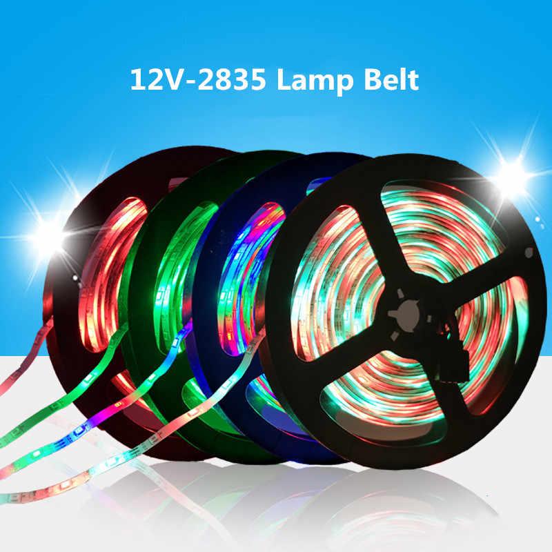 LED Strip lamp 2835SMD DC12V Flexibele LED light Tape Lint 0.5M 1M 2M 3M 4M 5M 10M HDTV TV Desktop Screen Achtergrond Vooringenomenheid licht