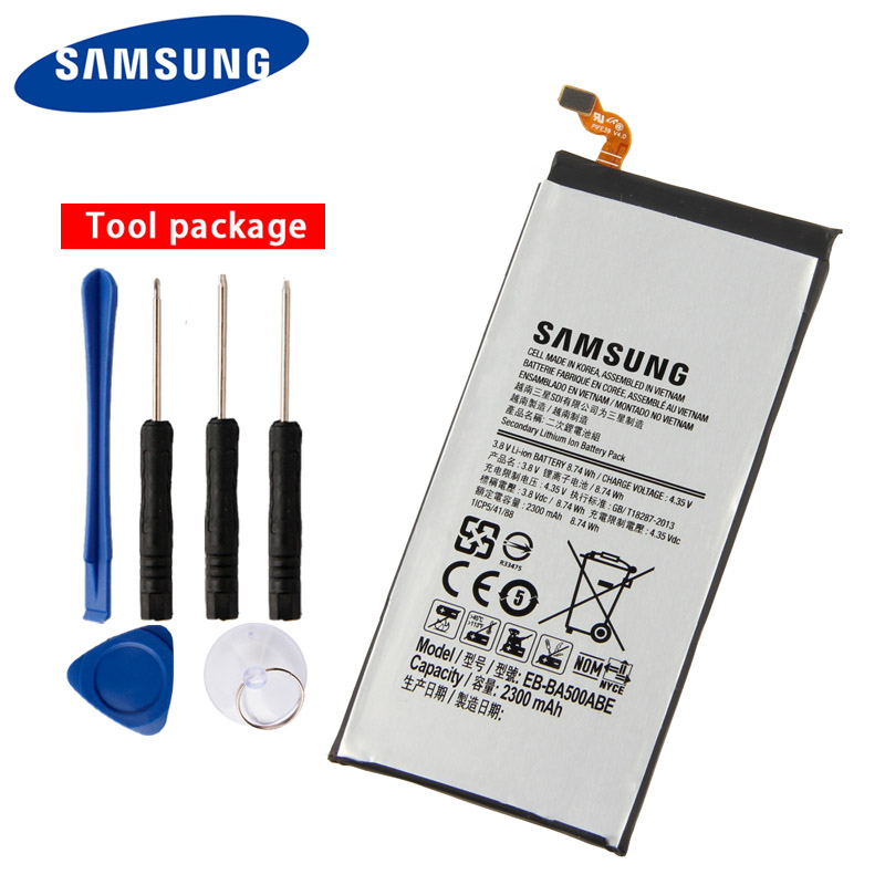 Original Samsung EB-BA500ABE Battery For GALAXY A5 2015 Authentic Phone 2300mAh