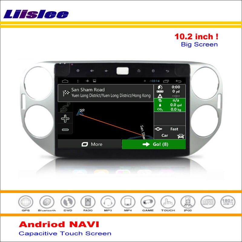 Système de Navigation multimédia Android Liislee pour Volkswagen VW Tiguan 2007 ~ 2016 Radio stéréo Audio vidéo multimédia (pas de lecteur DVD)