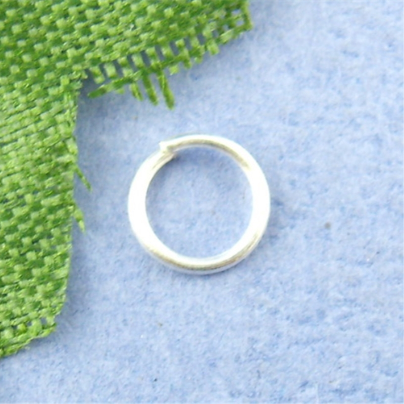 DoreenBeads 1200PCs Silver Color Open Jump Ring 5mm In Dia. (B00492)