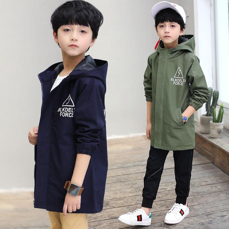 Новая детская одежда весенняя куртка для мальчиков детская ветровка с длинным разрезом для больших мальчиков, Корейская рубашка для мальчиков на весну