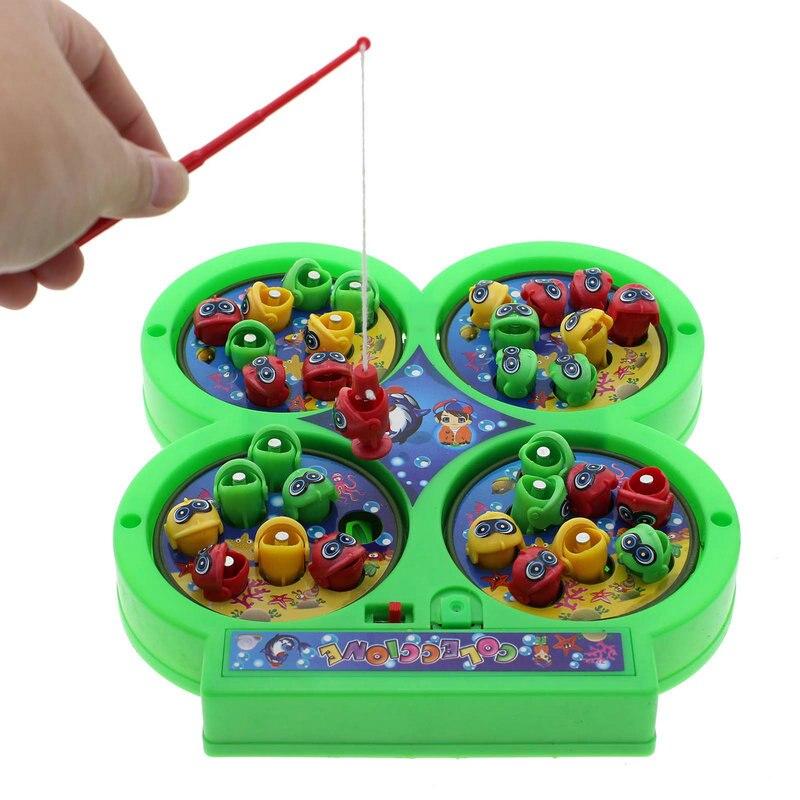 2016 Nieuwe Kids Vissen Speelgoed Interessante Elektrische Roterende Magneet Vissen Voor Kinderen Developmental Toy Game