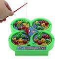 2016 Nova crianças Interessante brinquedo de Pesca Elétrica Rotativa Magnet Developmental Toy Jogo de Pesca Para Crianças