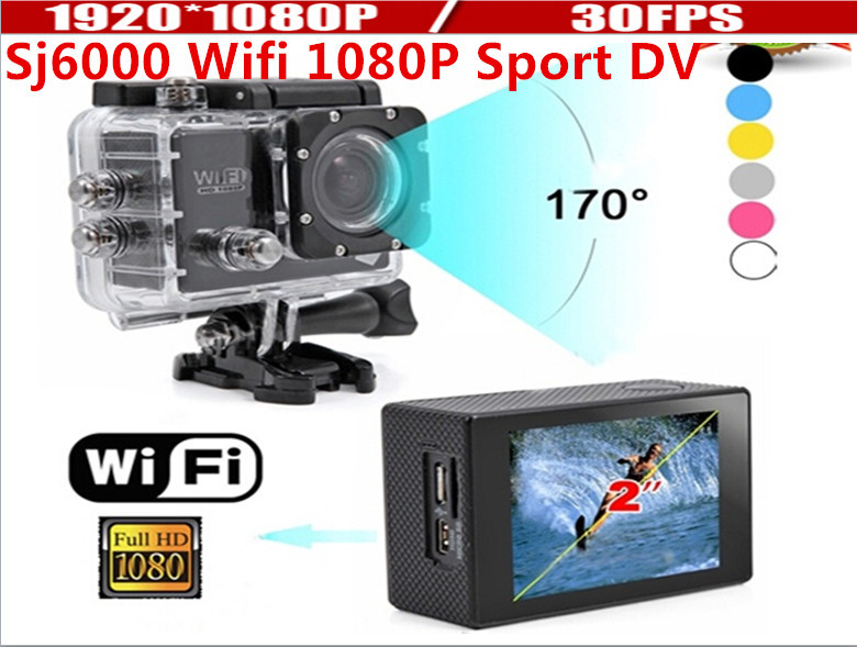 New 2015 WIFI Action Camera 12MP Full HD camera 1080P 30FPS 2.0LCD Diving 30M Waterproof sj5000 sj4000 wifi sport DV kahane sj4000 full hd 1080p wifi wireless 30m waterproof sport dv video action camera for audi bmw mercedes vw nissan hyundai