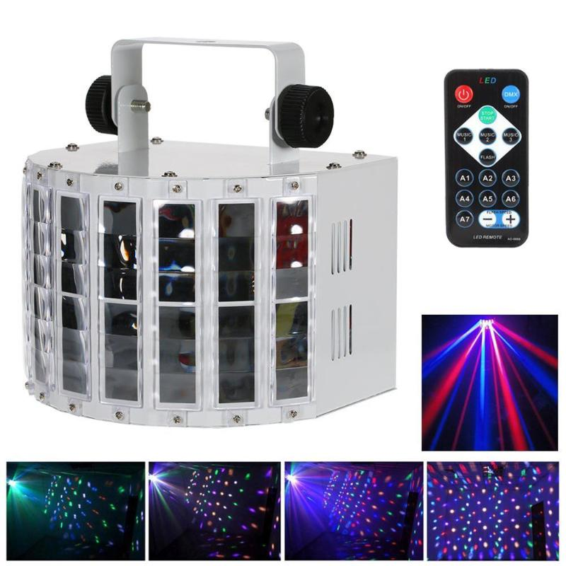 9 Цвет светодиодный бабочка лампы дистанционного Управление звуковая активация DMX 512 Управление Лер лампа КТВ DJ Bar Club этапе фонарик