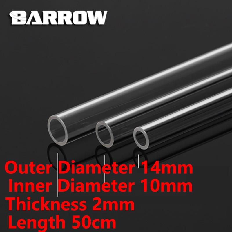 Barrow PMMA/PETG Hard Tube ID8mm/OD12mm - ID10mm/OD14mm -ID12mm/OD16mm Length 50cm Transparent Pipe Acrylic PETG Tube 2pcs/Lots