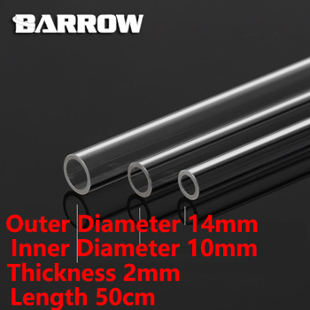 Barrow PMMA/PETG Hard Tube ID8mm/OD12mm – ID10mm/OD14mm -ID12mm/OD16mm Length 50cm Transparent Pipe Acrylic PETG Tube 2pcs/Lots