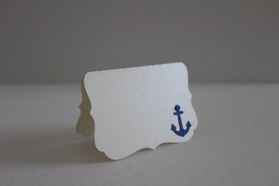 nautical place cards beach anchor vintage wedding party escort tent seating table number card placecards custom color in cards invitations from home - Custom Place Cards