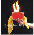 Envío gratis! caja de fuego / trucos de magia, bufandas a través del fuego caja, magia de seda, etapa, venta al por mayor