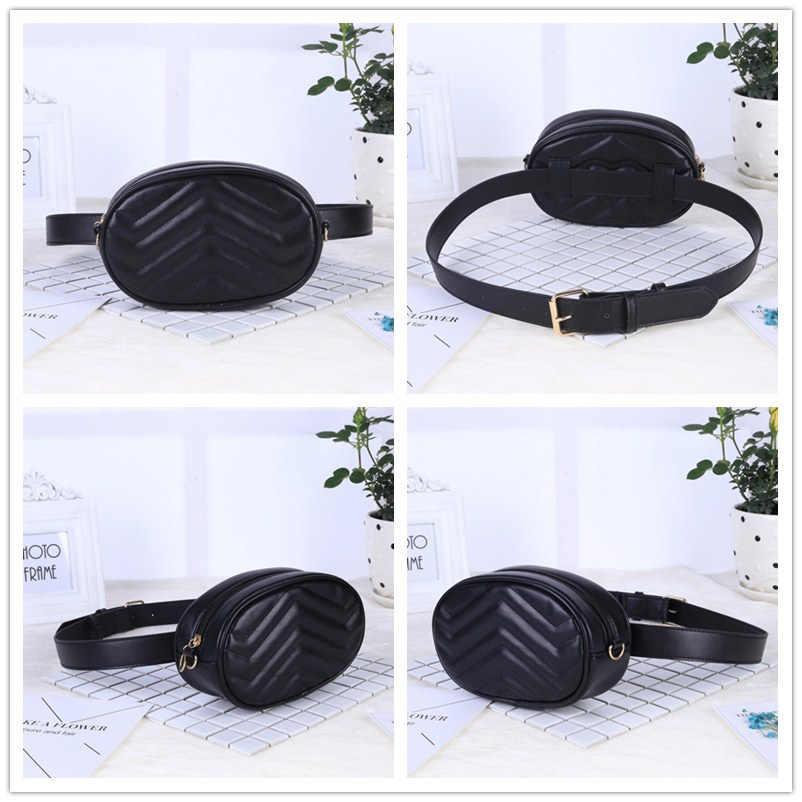 6c1679ec6aa 2019 New Bags for Women Pack Waist Bag Women Round Belt Bag Luxury Brand  Leather Chest Handbag Beige New Fashion High Quality