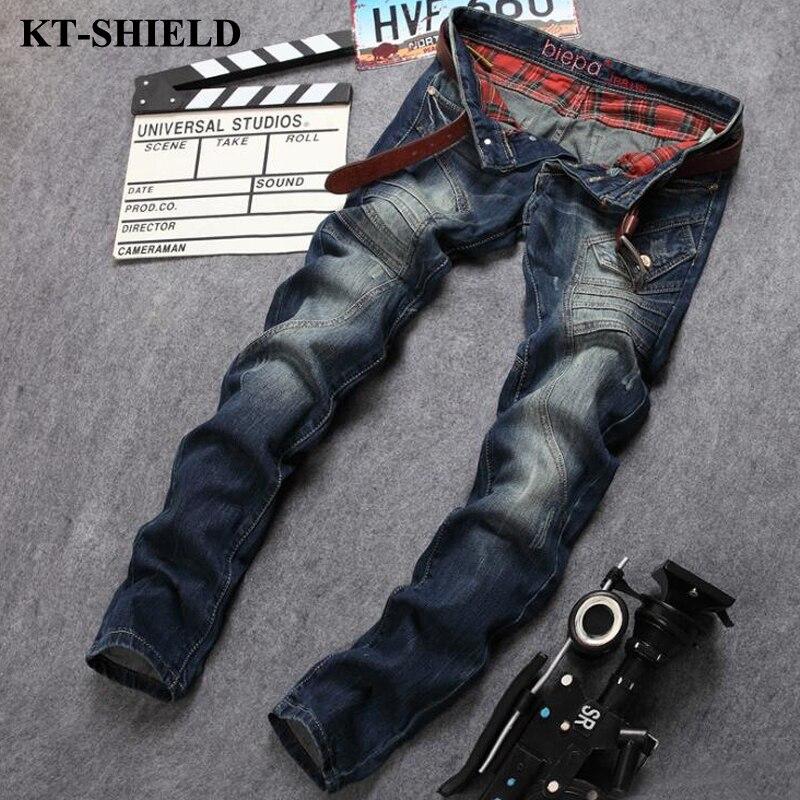 2017 Men s Denim Jeans Spring Autumn Slim Fit Trousers Stretch Jeans Famous brand men pants