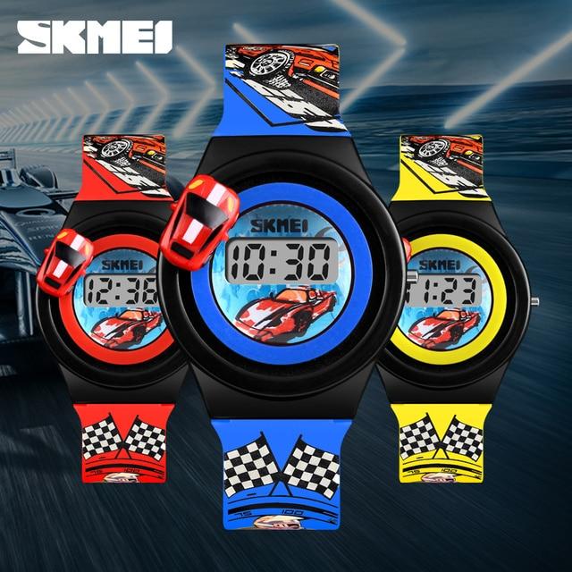 Fashion Cartoon Sports Children's Watches SKMEI Brand Cartoon Digital Child Watc