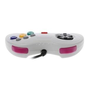 Image 2 - 1 قطعة USB الكلاسيكية غمبد تحكم السلكية أذرع التحكم في ألعاب الفيديو Joypad ل سيجا زحل قطعة USB غمبد تحكم