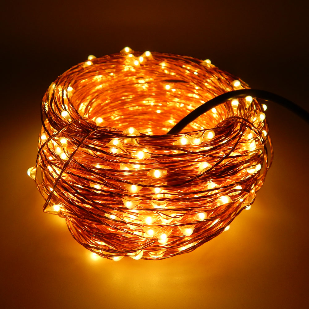 50M 500LEDs Copper Wire LED String Light Christmas Holiday Wedding ...
