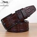 [DWST] 2016 dos homens de luxo crocodilo padrão de cinto mens cintos de couro pin buckle ceinture cinturones hombre masculino designer de negócios