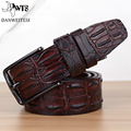 [DWST]2016 mens luxury crocodile pattern belt leather mens belts cinturones hombre pin buckle ceinture male business designer