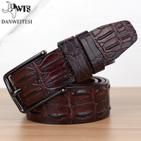 [DWST] belt mens luxury crocodile pattern belt leather mens belts cinturones hombre pin buckle ceinture male business designer