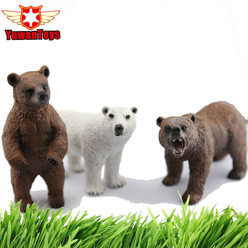 Super Realistic Wild Animals Model Series Bears Delicate PVC Toys Xmas Gift For Kids Early Education Classic Toys Hand Paind mr froger carcharodon megalodon model giant tooth shark sphyrna aquatic creatures wild animals zoo modeling plastic sea lift toy
