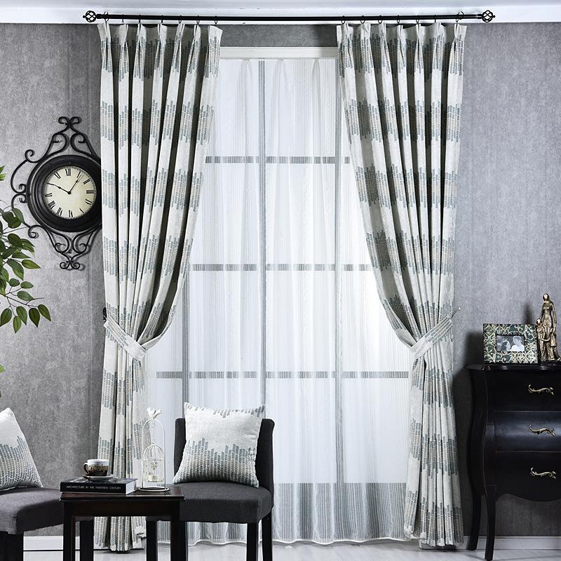 cortinas de rayas de tela de lujo moderno estilo simple directo de fbrica de cortinas para