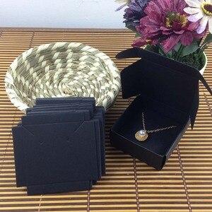 Image 5 - 1 lote = 100 cajas + 100 Uds. De cartón interior, 65x65x30mm, color blanco/Negro/Collar Kraft/caja para pendientes/Collar/anillo/conjunto de joyería