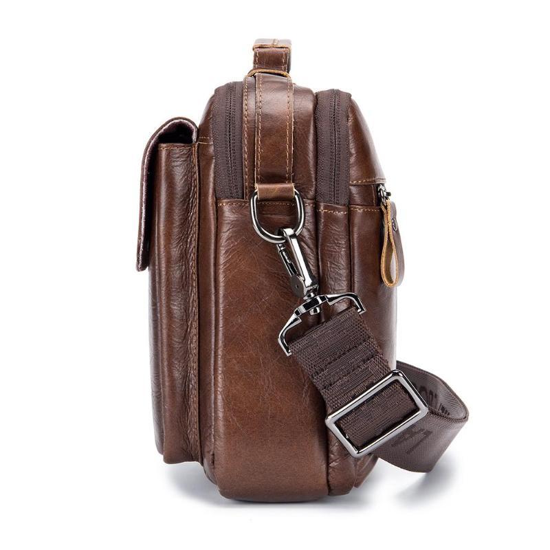 HTB1A9.OPNjaK1RjSZFAq6zdLFXaB Men Business Briefcase Vintage Genuine Leather Laptop Messenger Bag Cowhide Big Capacity Tote Office Handbag Men Briefcase