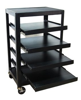 Movable Projector Cart Porjector Trolley/Projector Trolley Cart/Office Trolley with self lock wheel