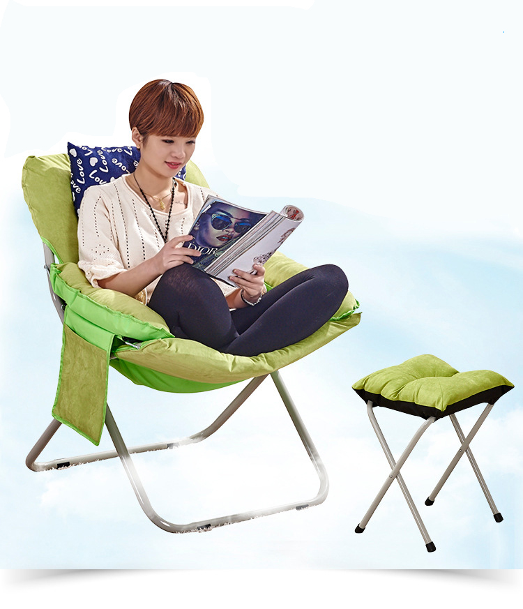 Household folding recliner computer office sofa lazy chair dormitory chair casual lunch break chair