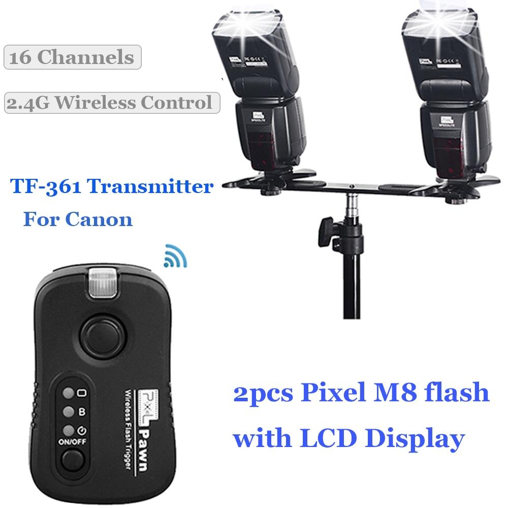 InseSI IN-560IV IN560IV PLUS & PIXEL M8 LCD FlashLight Bezdrátový - Videokamery a fotoaparáty - Fotografie 6
