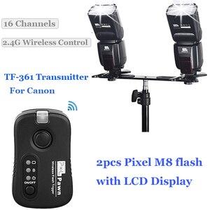 Image 5 - INSEESI IN 560IV IN560IV PLUS & PIXEL M8 LCD Zaklamp Wireless Flash Speedlite & TF 361 Wireless Flash Trigger voor Canon Camera