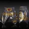 Golden Flower MMA Boxing Trunks Fight Shorts Free Combat Pants Boxing Sanda Shorts Muay Thai For Men