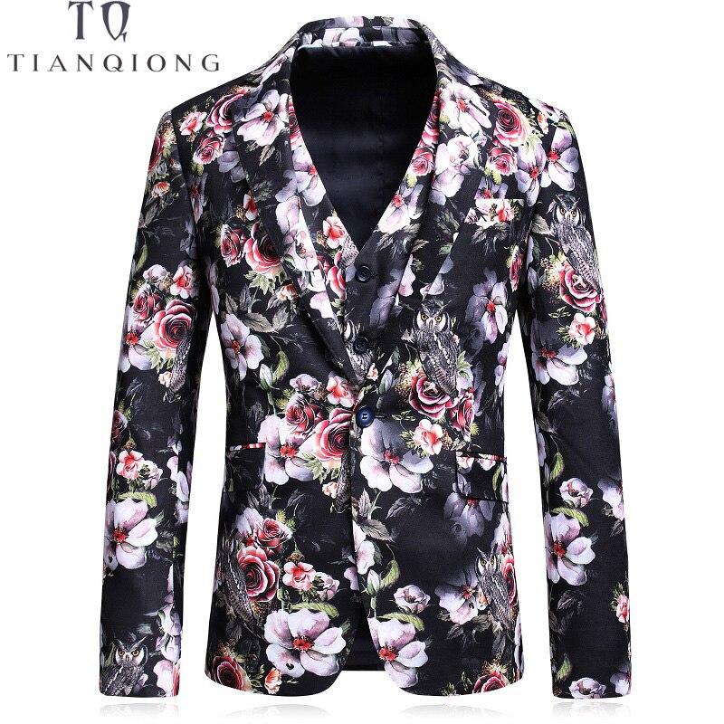 TIAN QIONG Burgundy Men Suit Printed Floral Patterns Designer Suit Stage Wear Slim Fit Prom Suit S-5XL 3 Pce (Blazer+Pants+Vest)