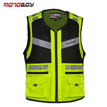 MOTOBOY Motorcycle Safety Security Visibility Reflective Vest Construction Traffic Cycling Outdoor Reflective Safety Travel