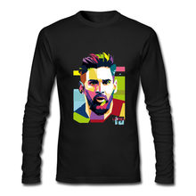 7fe186e78 Brand 2018 Lionel Messi Shirts Barcelona Men s Long sleeve Messi funny t  shirt 100% cotton tshirt Tops Argentina fans tee shirt