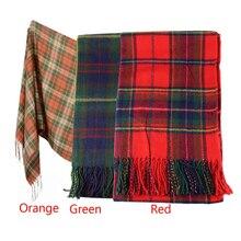 Hot Marketing New Women Winter Infinity Blanket Oversized Shawl Plaid Check Tartan Scarf Wrap May4 Drop