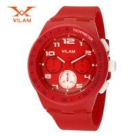 High Quality Brand VILAM Fashion Colorful Silicone Sport Quartz Watch Female Japan Quartz Watch For Women