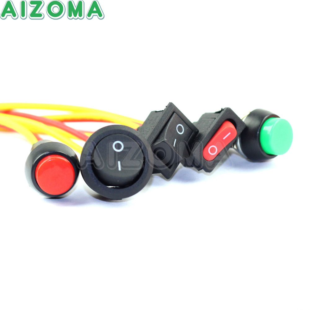 Motorcycle Vehicle Universal Light Electric Equipment Switch On//Off Button Small
