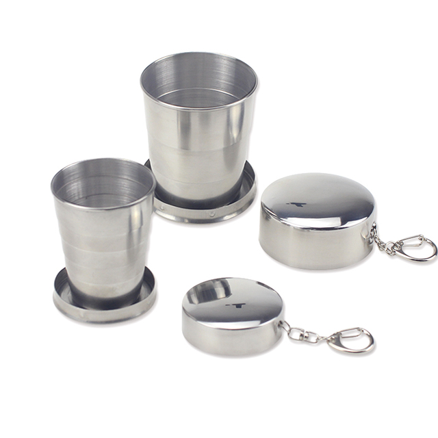 Portable Stainless Steel Mini Glass Cup