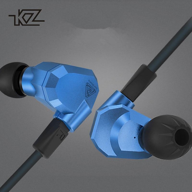 KZ ZS5 Bass Stereo Kopfhörer Musik Ohrhörer 2DD + 2BA Acht Einheiten Dynamische und Ausgewogene Armaturen Hybrid Kopfhörer für iphone se