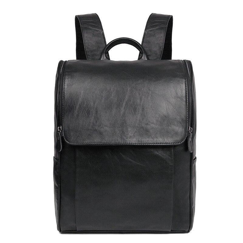 솔리드 정품 가죽 암소 피부 남자 배낭 대용량 야외 가방-에서백팩부터 수화물 & 가방 의  그룹 1