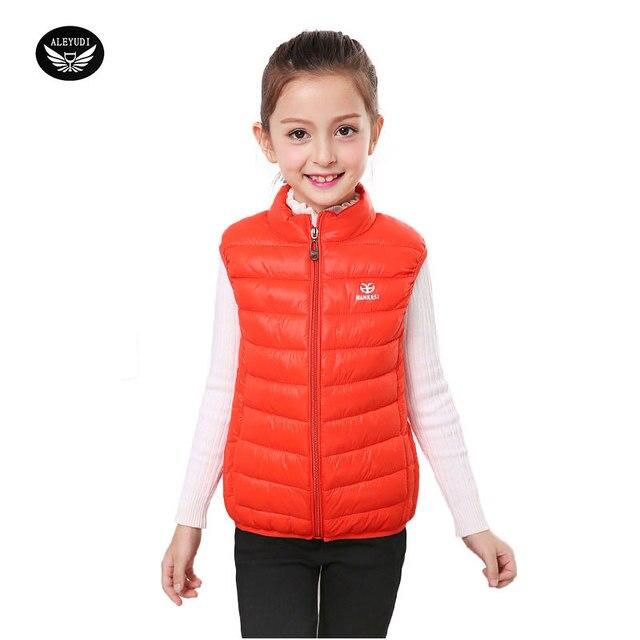 9f53c7b69ab0 Girls Cute Vest Winter Boys Down Vest Waistcoats Children Ma3 Jia3 ...