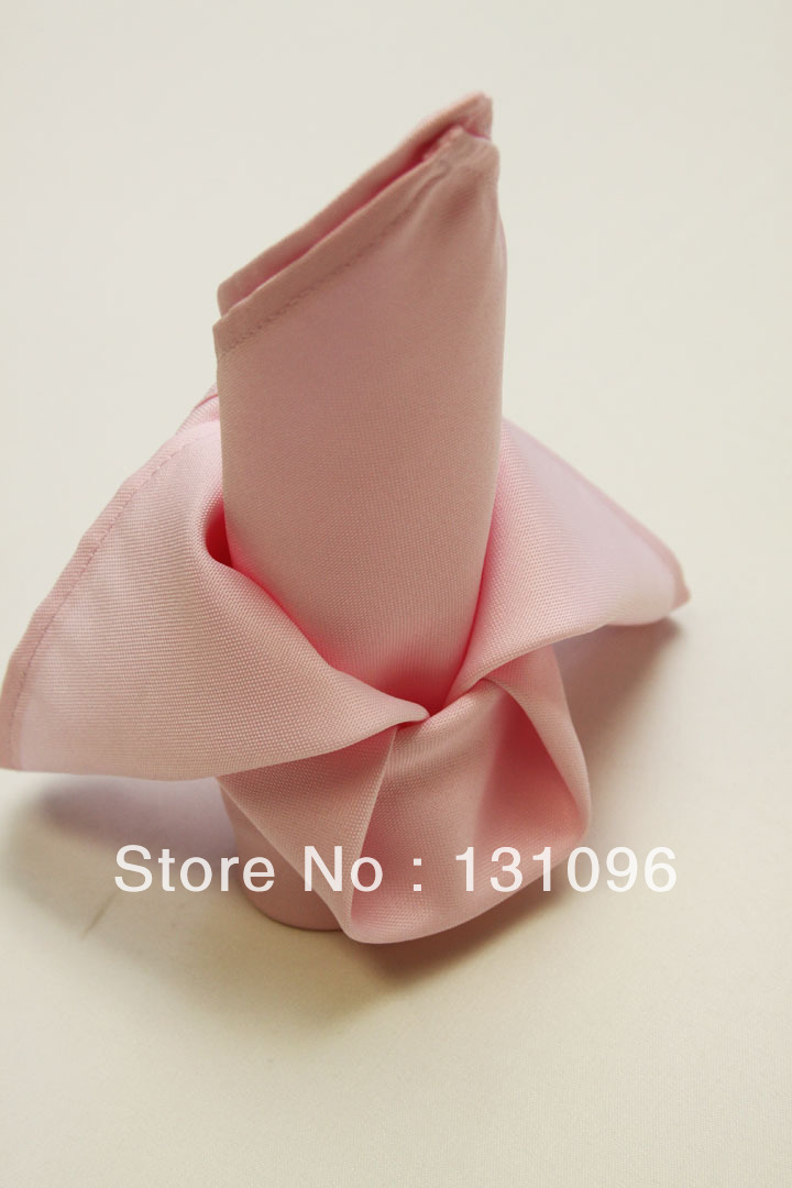 10pcs Light Pink Polyester Plain Napkin 50x50cm ,Table Napkin For Weddings Events &Party&Restaurant &Hotel