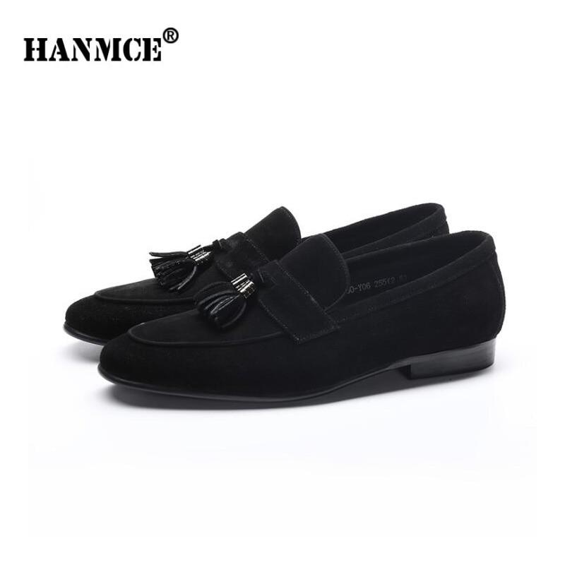 Zapatos de oficina para hombre HANMCE zapatos planos de cuero genuino para hombre mocasines zapatos de cuero de demanda zapatos de boda para hombre pisos-in Zapatos formales from zapatos    3