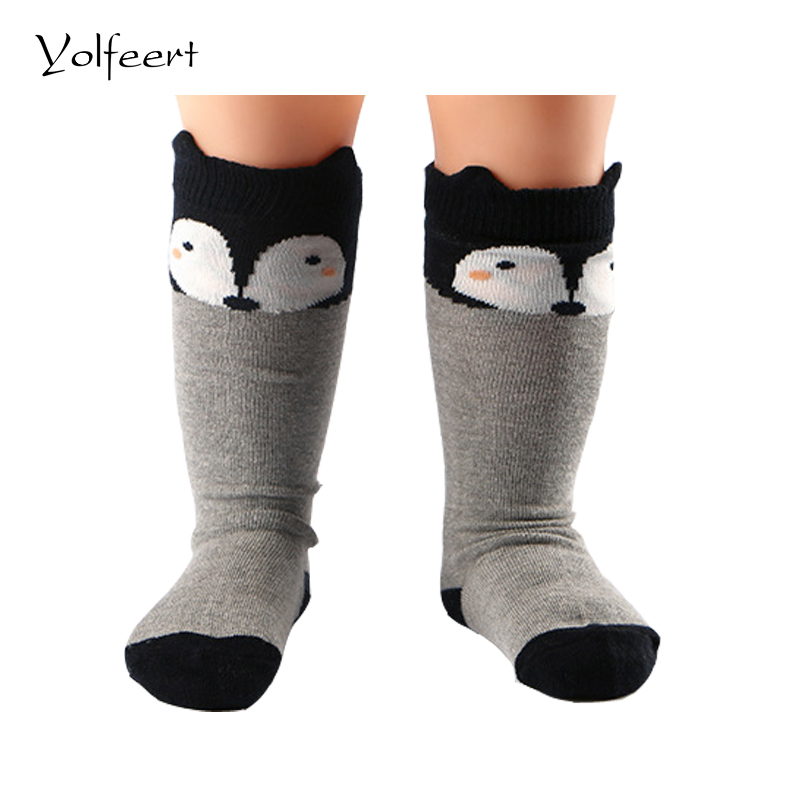 YOLFEERT Breathable Cotton Knee High Baby Socks for
