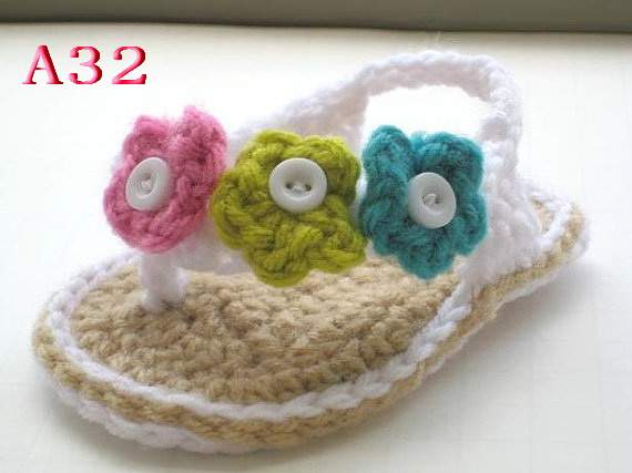 5fb930b7e Online Shop Free shipping Crochet Baby shoes Pattern ruffled ...