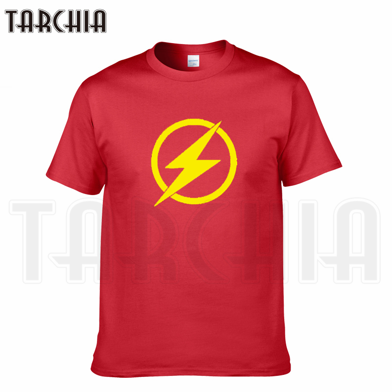 TARCHIA brand 2018 new summer TV series flash t-shirt cotton tops tees men short sleeve boy casual homme tshirt t plus fashion