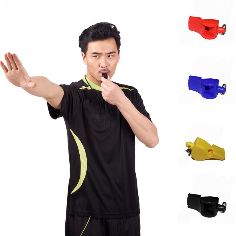 New Durable Plastic Whistle Referee Practical Whistle Professional Soccer Basketball Hockey Baseball Sports Referee Whistle~